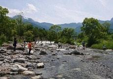 お取り寄せパスタソースナチュラルグレースメルカートのブログ 精進ヶ滝登山とバーベキュー大会!武川で水遊び1