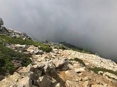 贈答・プレゼントにも。こだわり高級無添加パスタソース専門手・おとりよせのナチュラルグレースメルカートのブログ 北アルプス 常念岳登山 下山の岩場