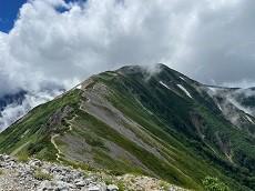 お取り寄せパスタソース専門店 ナチュラルグレース専門店 ナチュラルグレースメルカートブログ みんなで白馬岳登山(^_-)-☆の稜線