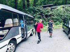 お取り寄せパスタソース専門店 ナチュラルグレース専門店 ナチュラルグレースメルカートブログ みんなで白馬岳登山(^_-)-☆バ・ブローさんがバスで迎えに来てくれた!